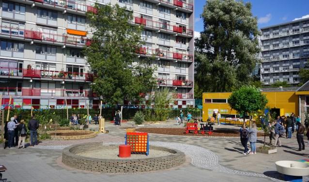 Overzicht van het nieuwe schoolplein. Foto Wendy Bakker