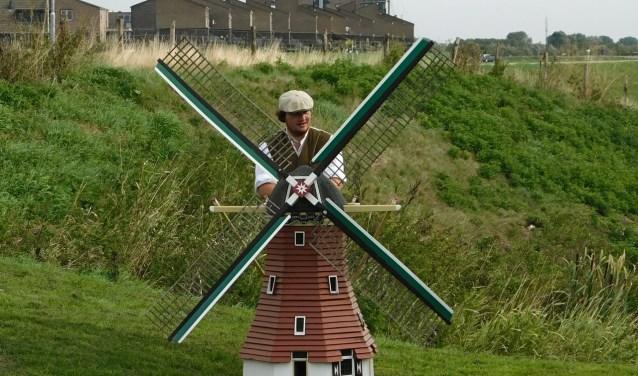 Ook de kleine molens draaiden er keurig op los tijdens de Open Monumentendag. (Foto: Arie Pieters)