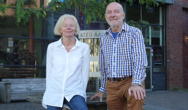 Tineke Rossel en Martin van Angeren voor Theater Aan de Slinger. Ook vrijwilliger worden? Kijk op www.aandeslinger.nl.