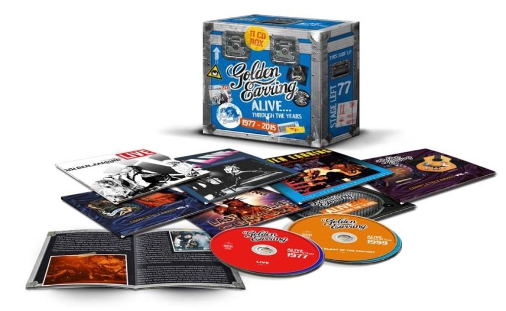 De prachtige Live CD Box van Golden Earring Foto: Universal Music © Persgroep