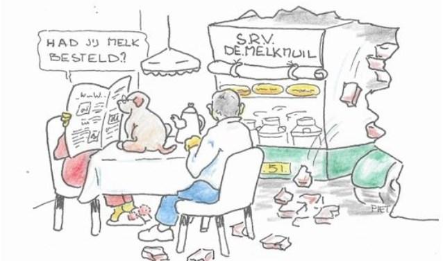 De Kas oover de vloer meej z'ne mùlkwaoge. Wilt u reageren? Dat kan door te mailen naar wolluksepraot@erstelinghe.nl.