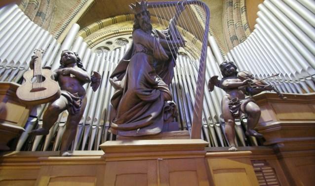 Een hoofdrol tijdens het Orgelfestival is weggelegd voor het onlangs gerestaureerde Verschueren-orgel. FOTO: Han Haitjema.