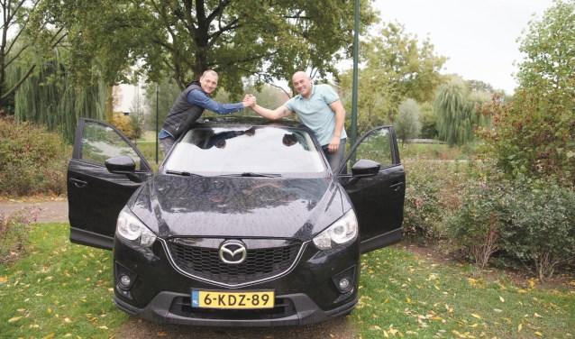 Patrick Gal (rechts) en Pascal Zweers nemen in januari deel aan de autotoertocht ScanCoveryTrial in Scandinavië.
