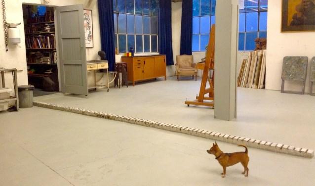 Het atelier in het ZUIVELHUIS