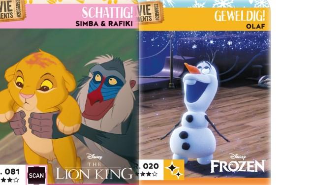 Er zijn Disney-kaartjes van klassiekers als The Lion King maar ook van nieuwere films als Frozen.