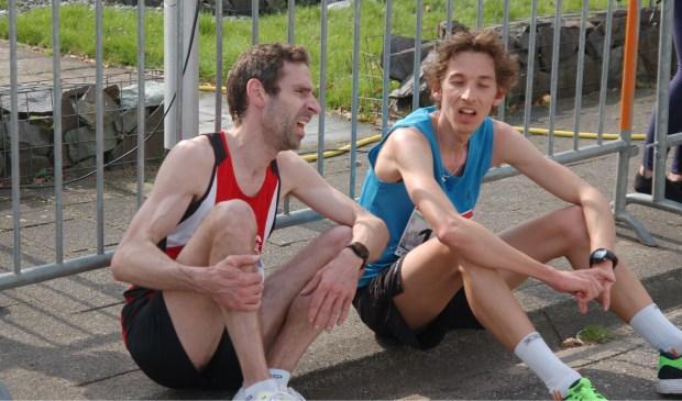 De strijd om de klassementswinst gaat tussen Cornelis Chatziioannou (links) en Leendert van der Lugt in de komende twee wedstrijden door.