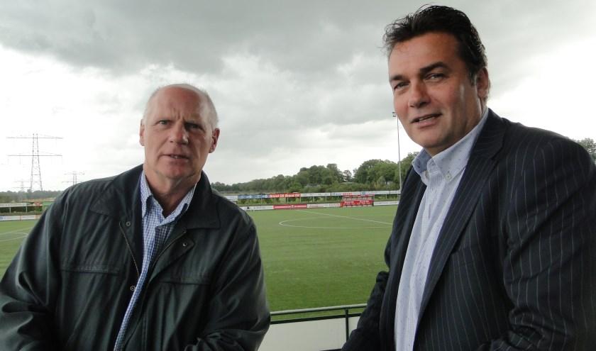 Hans van Bel (links) en Henk Jan Milius maken zich grote zorgen over het tekort aan vrijwilligers.