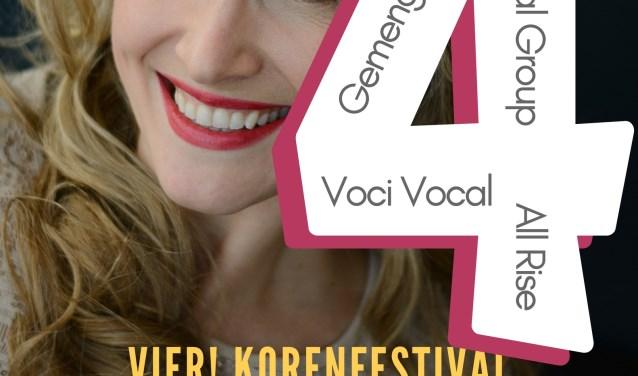 Foto Rineke, titel festival en namen deelnemers en locatie