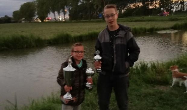 Mitchell Boom (links) won, Nick Hogeneist (rechts) werd tweede. Eigen foto