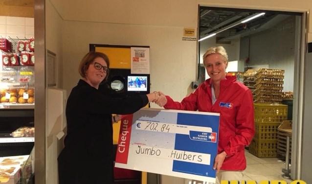 Uitreiking cheque aan KWF Veenendaal
