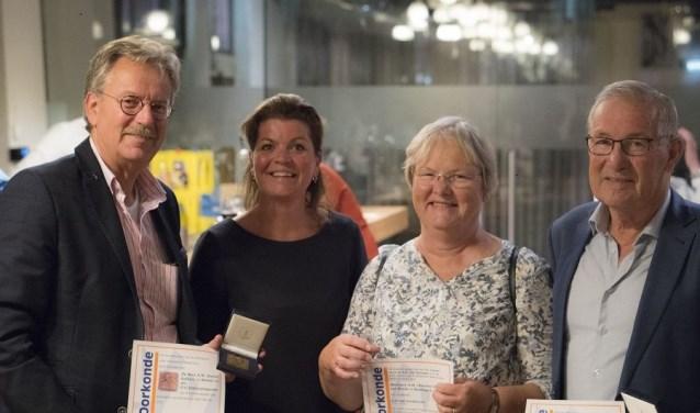 Van links naar rechts: Karel Kalkers, Christianne van der Wal, Anneke Brand en Jos van Gruijthuijsen. (Foto Nick de Graaf)