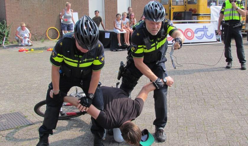 Demonstratie politiebikers