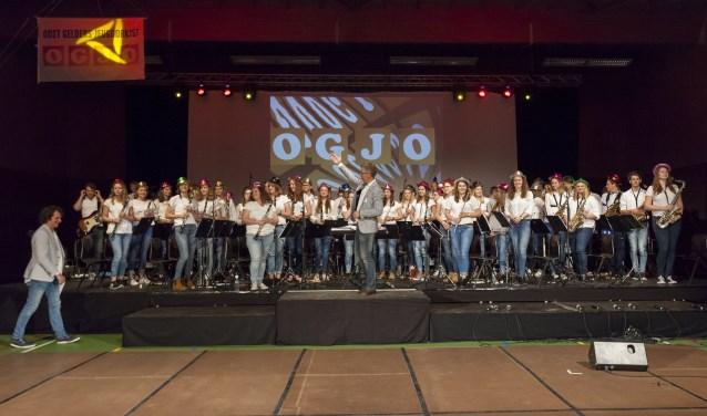 De enthousiaste orkestmuzikanten van de vorige editie van het OGJO