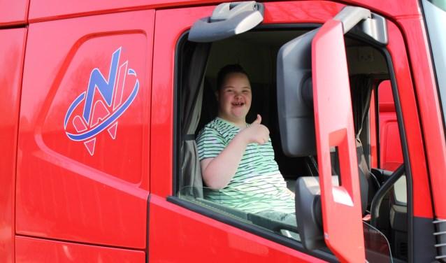 Milan laat duidelijk zien dat hij een topdag heeft bij de Truckrun. Foto: Stichting Truckrun Rijssen-Holten
