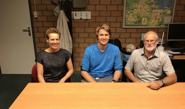 Ingrid Lammers-van Veenendaal, Ties Godefrooij en voorzitter Bram Griffioen