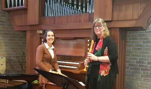 organiste Rodyan van den Brink en fluitiste Els Kuijk