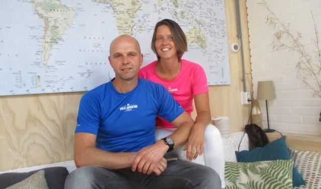 Emma en René de Pagter in hun Homebase. De thuisbasis waar ze samen met een team medewerkers jongeren in de knel helpen. Ook zijn er uitdagende buitenactiviteiten. FOTO: MARCEL VAN DER VOORT.