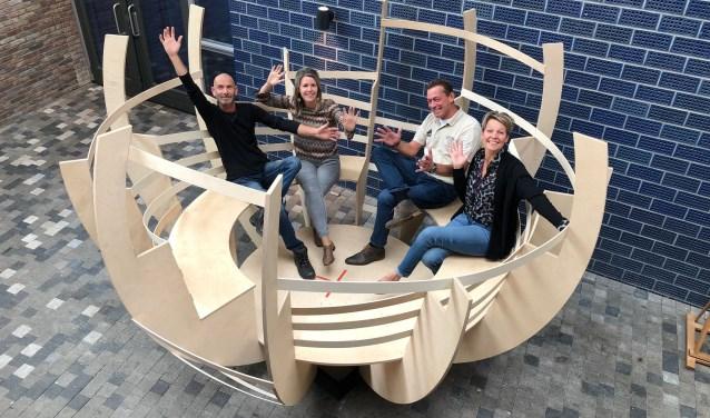 Beheerders Richard Lammers, Anniek Lammertink Janssen, Gerben Hegemans en Miranda Lycklama a Nijeholt (vlnr) zijn klaar voor de UITDaAG.