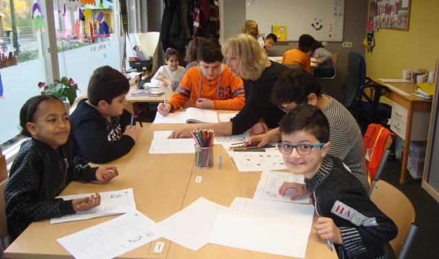 Archieffoto van de taalklas in Hardinxveld.
