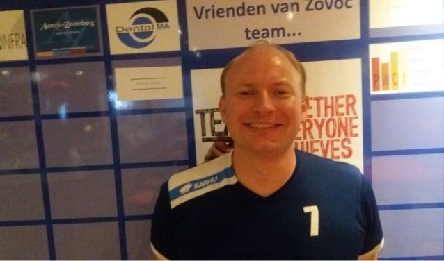 Piter Doctor, speler van ZOVOC heren 1 en vanaf komend seizoen tevens coach van dames 1
