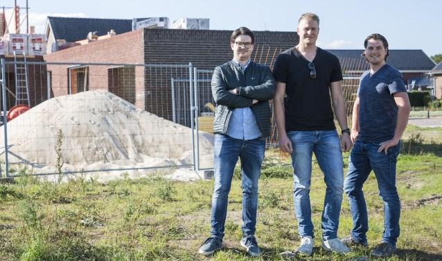 De Woonstarters (vlnr) Sam Cornelissen, Jan van Riet en Harm de Kleijne. (foto: Jolijn van Goch)