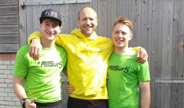 Van links naar rechts: Floris, Bart en Ruben.