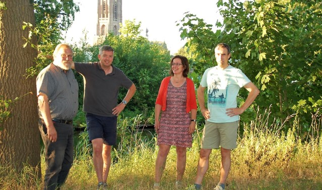 SOJO bestuur: Toon Bullens, Wilfred van Hout, Monique van Moorsel en Daan Lieshout.