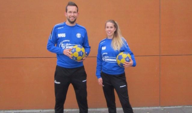 Wouter Jansen Venneboer en Femke van der Meer kijken uit naar de start van het korfbalseizoen.