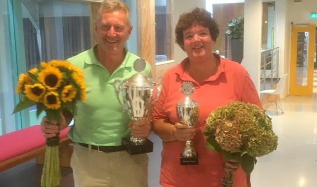 Winnaars Annemieke en Dick.