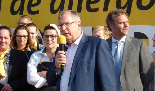 Wethouder Joop van Orsouw (Beter Oss) opende in juli van dit jaar het nieuwe filiaal van Jumbo aan het Meester Gielenplein in Berghem. Volgens hem 'de mooiste Jumbo van het land'.