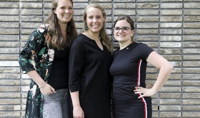 Jorien, Myriam en Eline van verloskundigenpraktijk 'In Spe' Foto: Marjoly fotografie