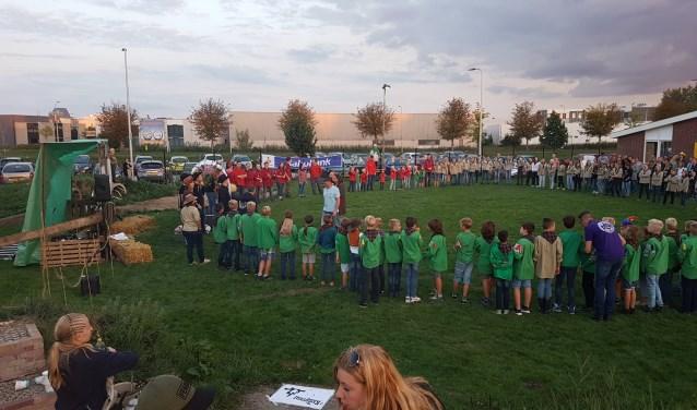 Scouting St. Joris opende het seizoen met zonnepanelen van de Rabobank (Foto: PR)