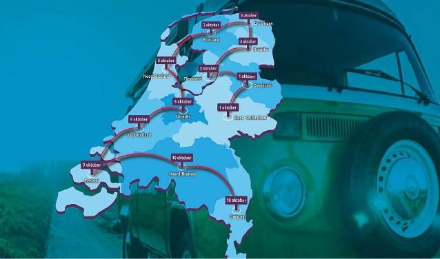 op tour door Nederland
