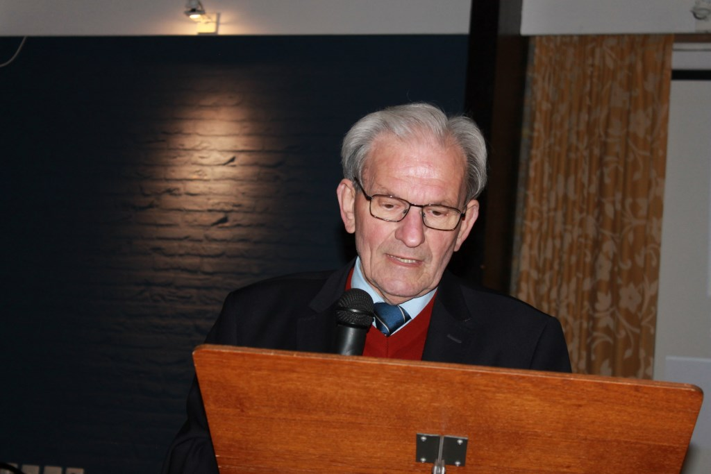 Tijme Bouwers, voorzitter van de Stichting, heette iedereen van harte welkom.  Foto: Leo van der Linde © Persgroep