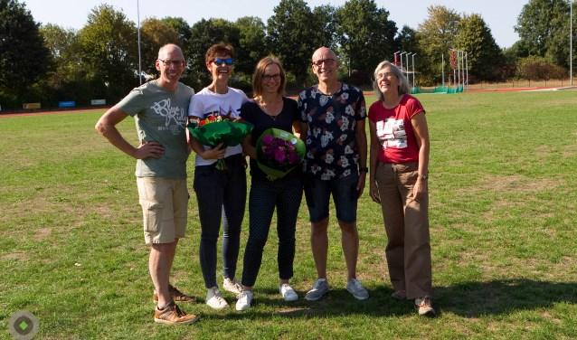 Vlnr, Herman, Susan, Manuela, Nico en Francis.
