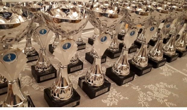 De Run for Joyce prijzen staan klaar. Eigen foto
