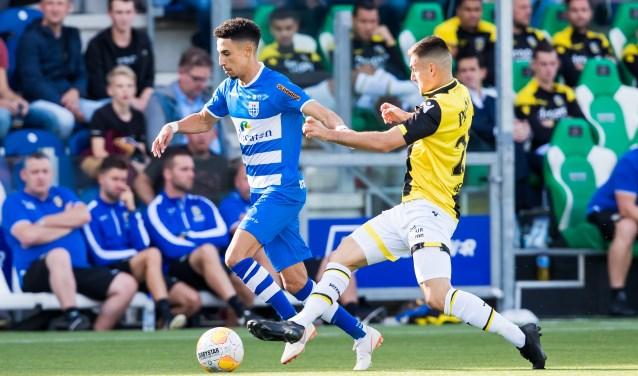 Younes Namli in actie in de verloren wedstrijd van zondag tegen Vitesse.