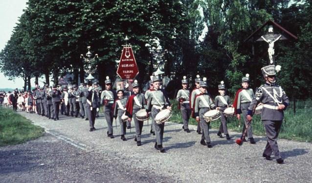De harmonie van de Heikant in 1961.