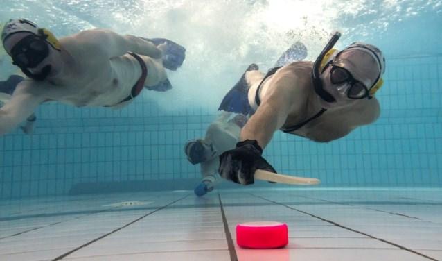 De Utrechtse Vereniging voor Onderwaterhockey (UVO) start met een cursus voor beginners in zwembad de Kwakel.