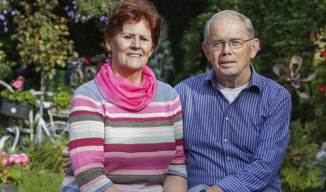 Frans en Mia Maas uit Leende stapten 50 jaar geleden in het huwelijksbootje. Foto: Jurgen van Hoof