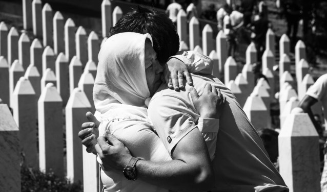 Bij de verschillende activiteiten in de Vredesweek wordt het lokaal en landelijk PAX vredeswerk in Srebrenica onder de aandacht gebracht en daarvoor ook een financiële bijdrage gevraagd (Foto: Mara Scampoli).