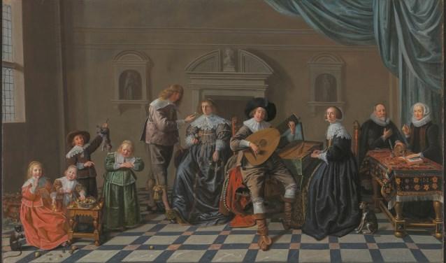 Dit schilderij van Miense Molenaer heet 'Vier generaties en vijf leeftijden'. Foto: Museum van Loon