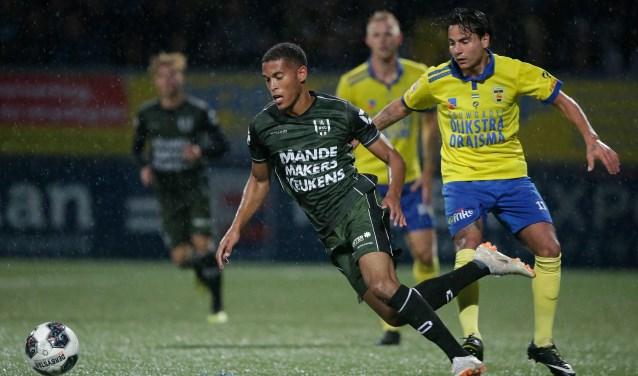 RKC Waalwijk verloor vrijdagavond in Leeuwarden met 2-0 van SC Cambuur dat net wat effectiever omsprong met de kansen. Foto: Soccrates Images