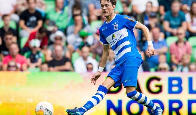 Thomas Lam tijdens zijn rentree in de uitwedstrijd tegen FC Groningen. (foto: Henry Dijkman)