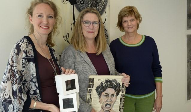 Nanette Smeets, Herma Petraeus-Breuers en Sylvia Essenberg.  Foto: Michel Verhoef