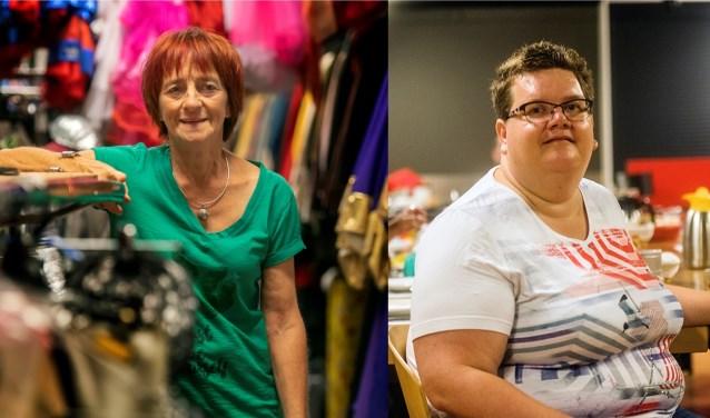 Twee genomineerden voor de Tilburgse Vrijwilligersprijzen 2018: José van den Broek (links) en Annelies van Zeben (rechts). foto: Beeld Werkt.