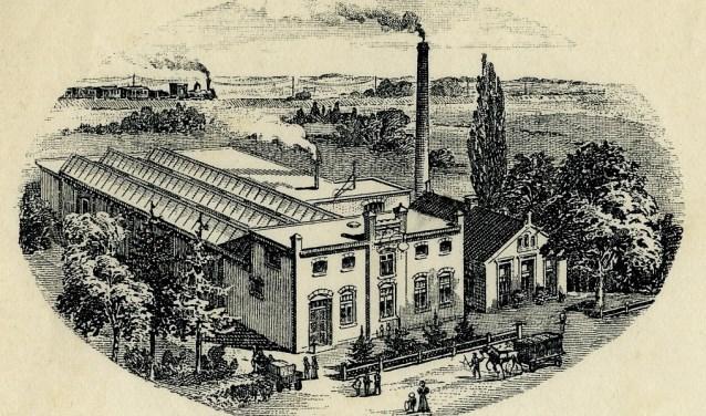 de nieuwe drukkerij ± 1902