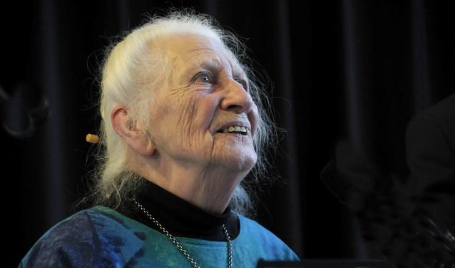 Inez Meter was in 2003 de eerste stadsdichter van Gouda.