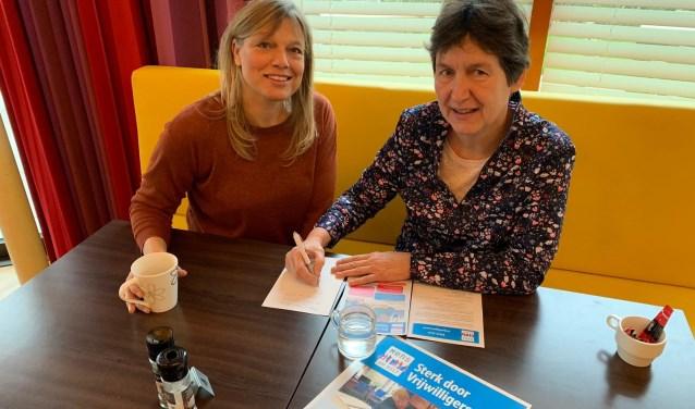 MENS De Bilt met Astrid en Maaike van het project Sterk door Vrijwilligerswerk.