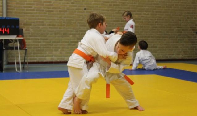 Jonge judoka's op de mat. Foto: Judo Losser.